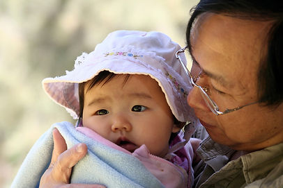 Father with infant daughter