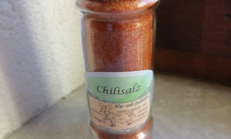 Chili - Salz im Gewürzstreuer