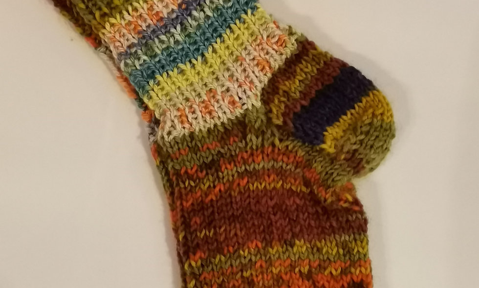 selbstgestrickte Kinder-Socken