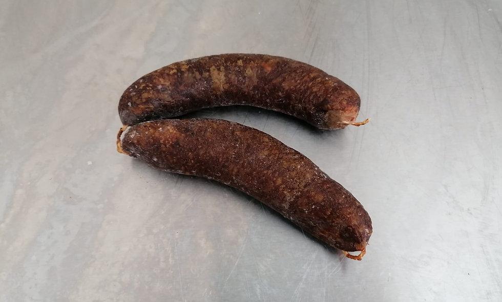 geräucherte Hirschwurst