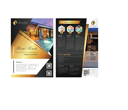 Final Touch Facilities Management English Flyer