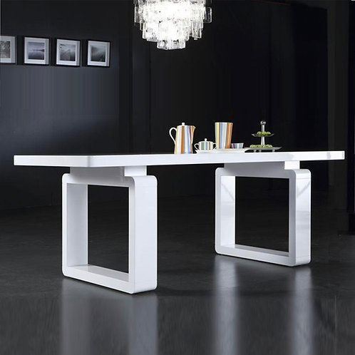 Contemporary White Dining Table Set