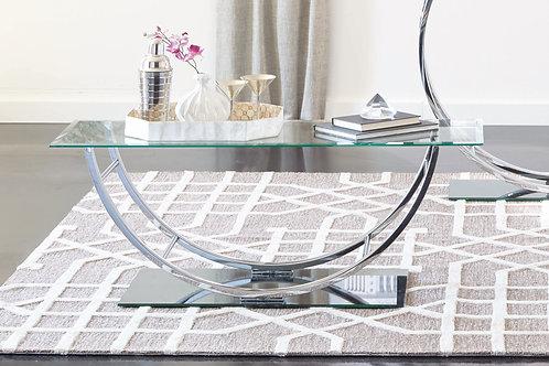 U-Shaped Coffee Table Chrome