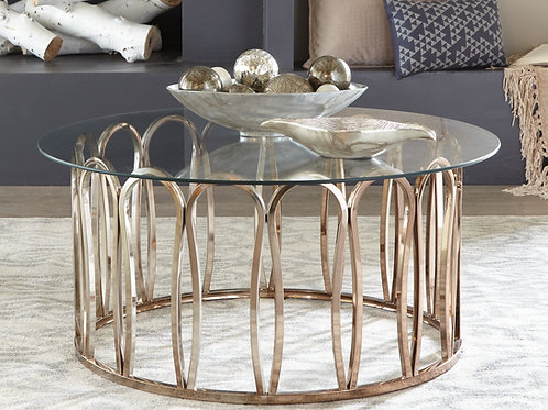 Round Coffee Table Chocolate Chrome And Clear