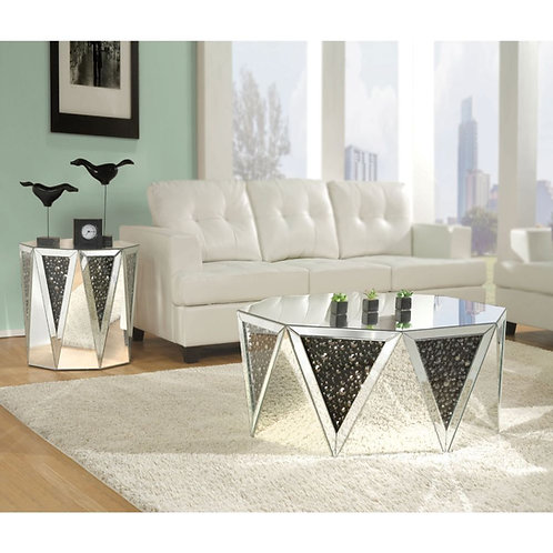 The Noor mirrored end table