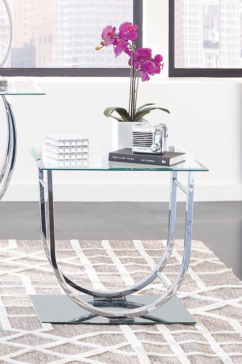 U-Shaped End Table Chrome