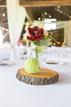 Flower and Osage Orange centerpiece