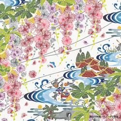 星のや沖縄 紅型壁紙「サガリバナ」
