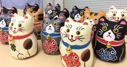 琉球紅型 招き猫