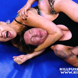 KPW233 Luna gets choked (Real Injury)