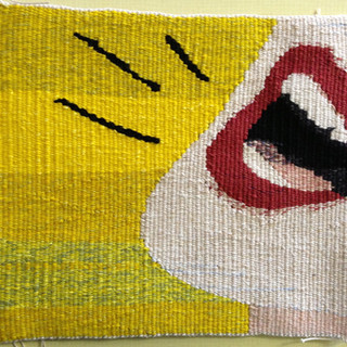 Confide In Me, woven tapestry by Mardi N
