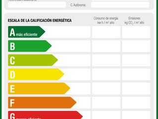 ¿Que significa la información del certificado de eficiencia energética de nuestro inmueble?
