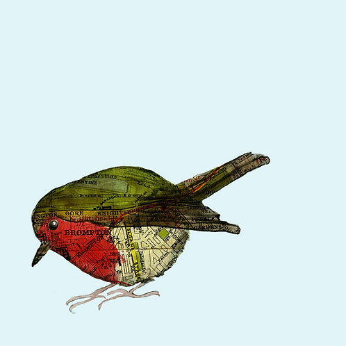 Bespoke Print - one small bird or animal. Mounted to A4 size.