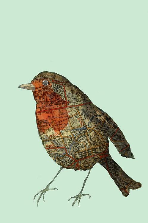 "Bespoke Print - one small bird or animal. Mounted to 8"" x 10"""