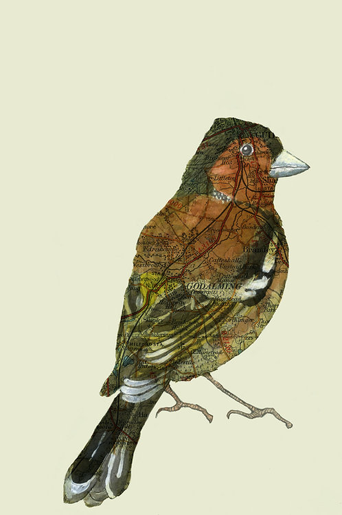 """Gift Card - Bespoke print with 1 small bird mounted to 8""""x10"""" or A4."""