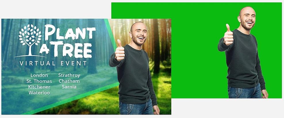 Green Screen Chroma Key Virtual Event