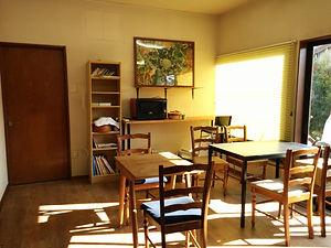 豊川市の障害者就労継続支援事業所ベジモファームBのカフェ風多目的室