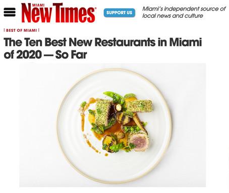 The Ten Best New Restaurants in Miami of 2020 - So Far