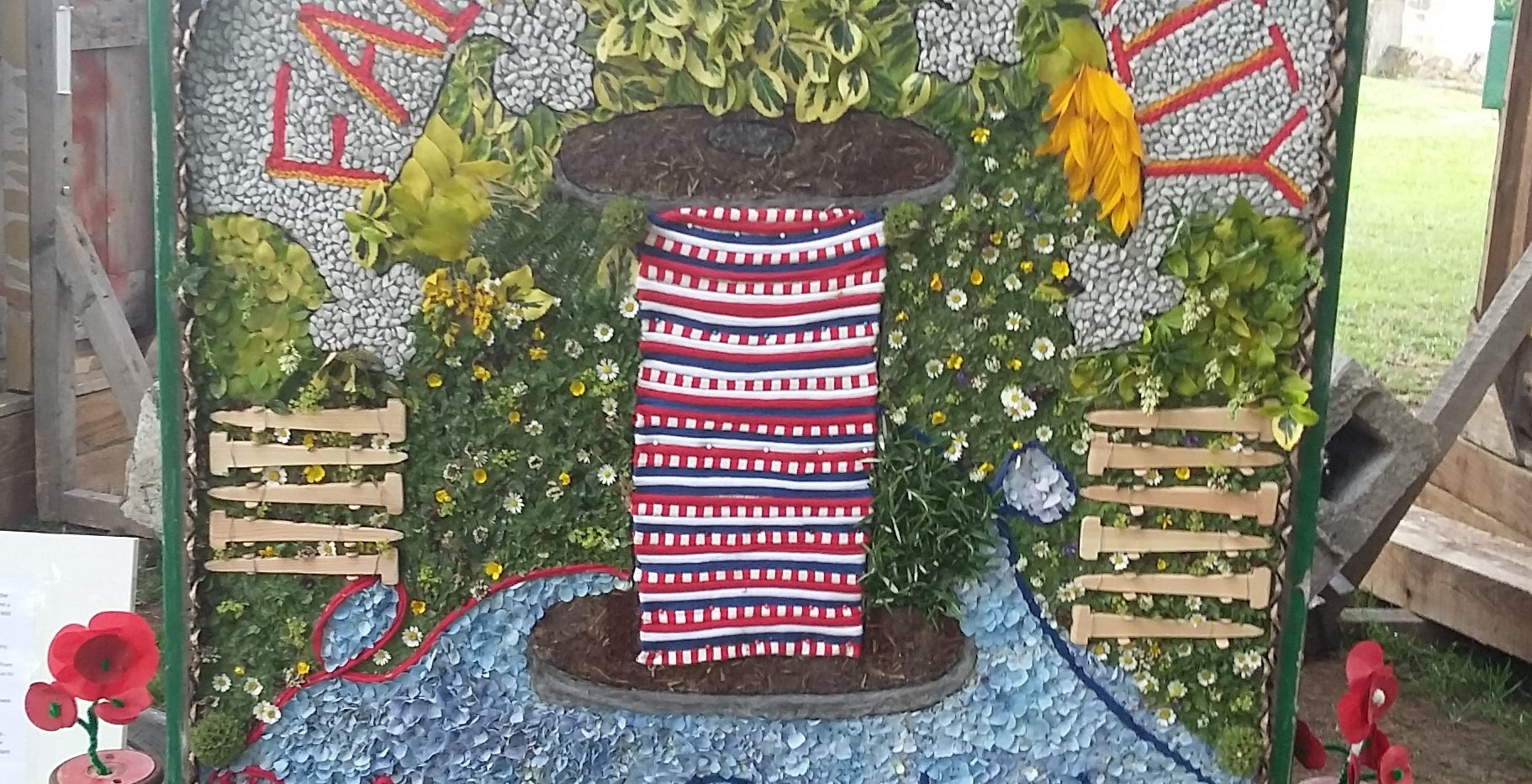 Well Dressing with Bobbin Design.