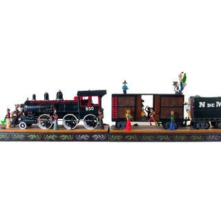 Tren artesanal en el museo de fonar