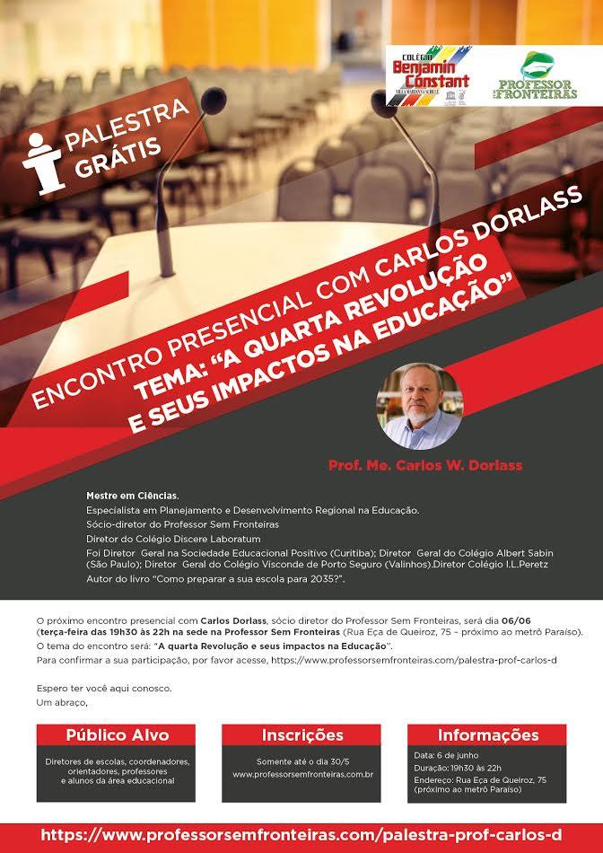 Palestra Grátis em São Paulo com Carlos Dorlass