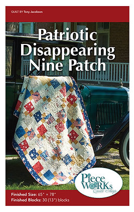 """""""Patriotic Disappearing Nine Patch"""" Pattern pdf"""
