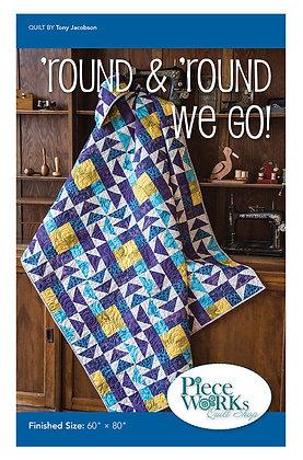 """""""Round & 'Round We Go!"""" Quilt Pattern pdf"""