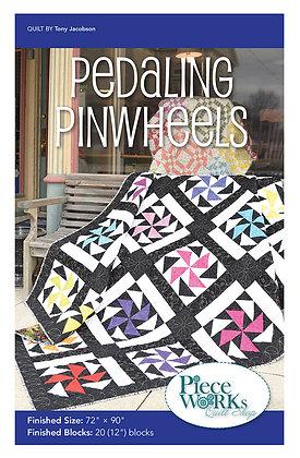 """""""Pedaling Pinwheels"""" Quilt Pattern pdf"""