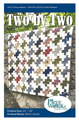 """Two by Two"" Quilt Pattern pdf"