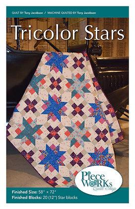 """Tricolor Stars"" Pattern pdf"