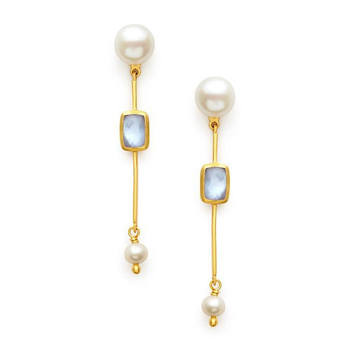 CLARA SINGLE STONE EARRING