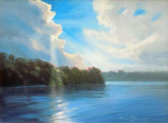 Lake Study In Blue