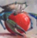 crab on tomato 24x36.jpg