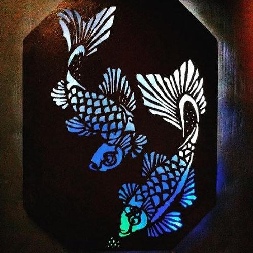 Quadro Luminoso de Peixes