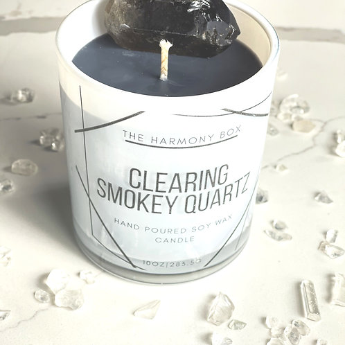Clearing Smokey Quartz Candle