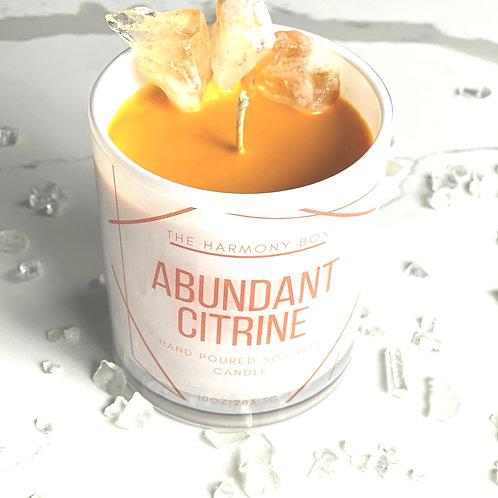 Abundant Citrine Candle