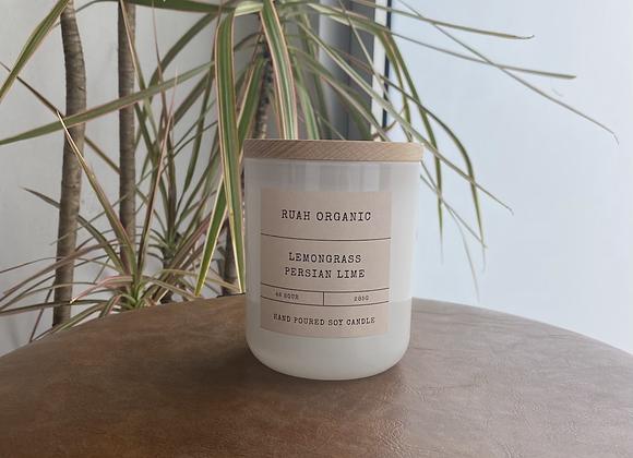 Ruah Organic Lemongrass Persian Lime candle
