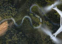 Veduta aerea di un Drone