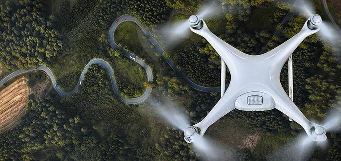 Vista aérea de um Drone