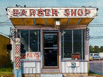 Barber Shop, Oklahoma City (after John Margolies)