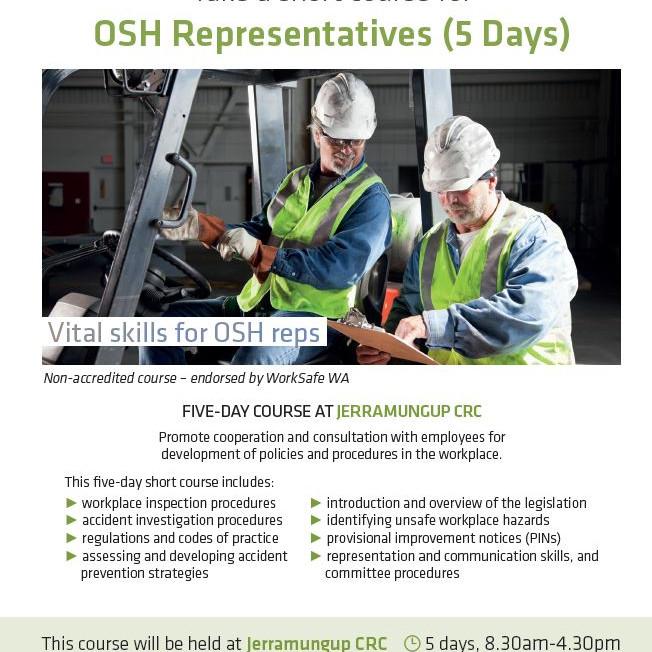 OSH Representatives (5 Day Course)