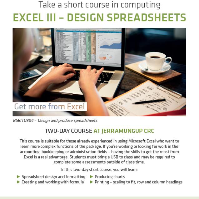 Excel III - Design spreadsheets