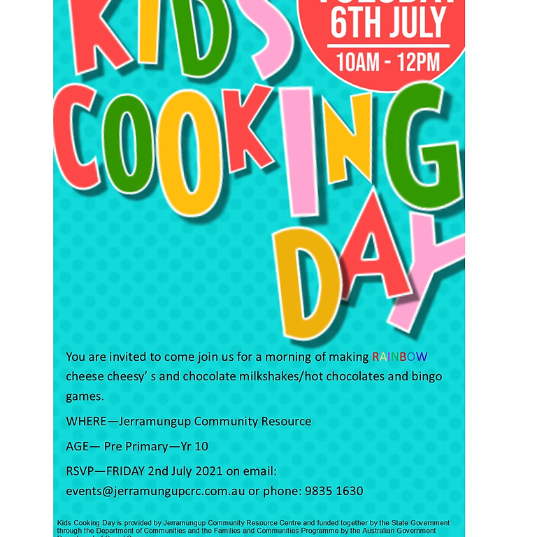 Kids Cooking Day - School Holiday Event