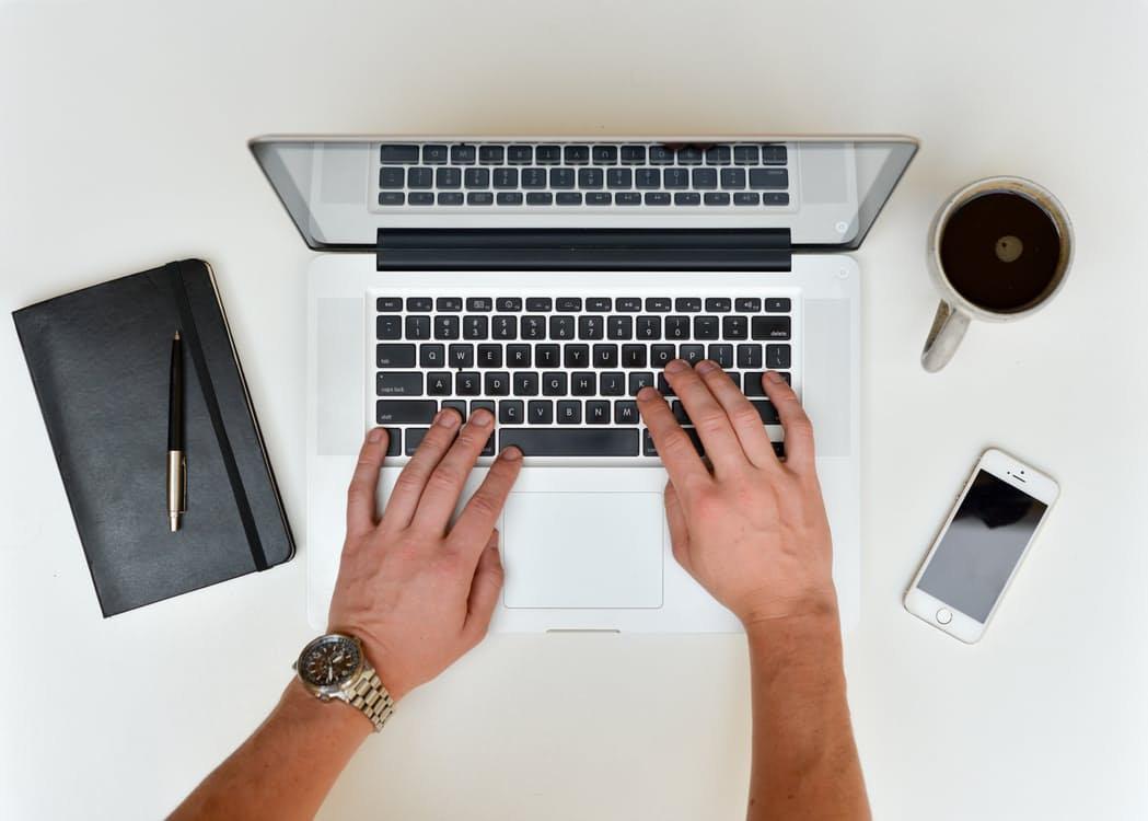 筆記本電腦工作
