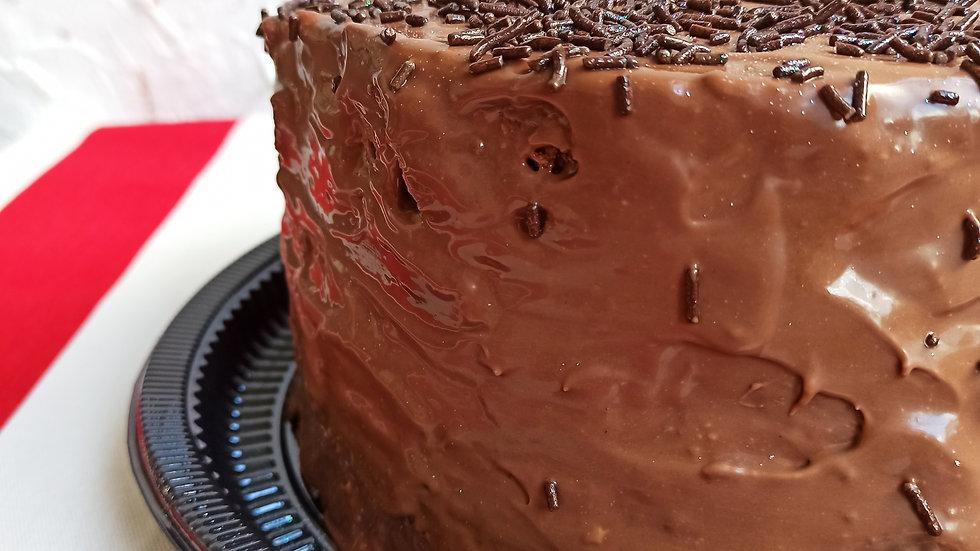 Torta Brownie Recheio Duplo com Ganache