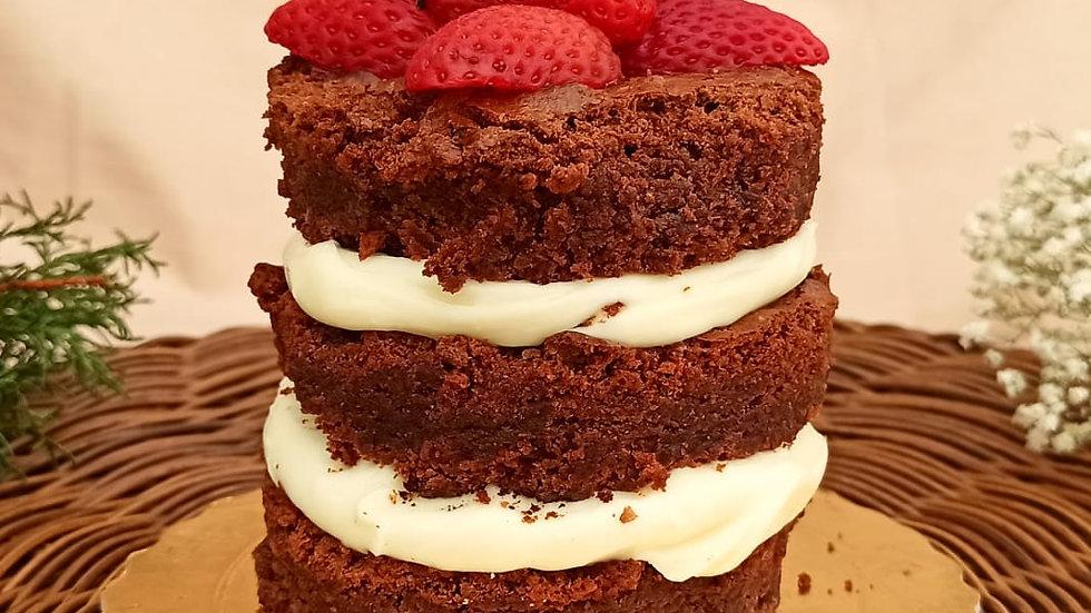 Mini Torta Naked de Brownie - 450g