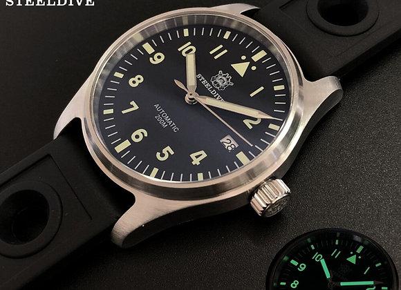 STEELDIVE 1940 Pilot Watch Men Water Proof