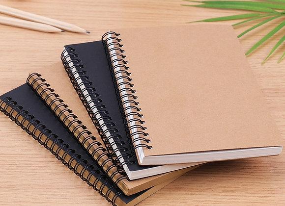 Retro Spiral Coil Sketchbook Kraft Paper Notebook