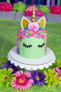 Gâteau réaliser Licorne