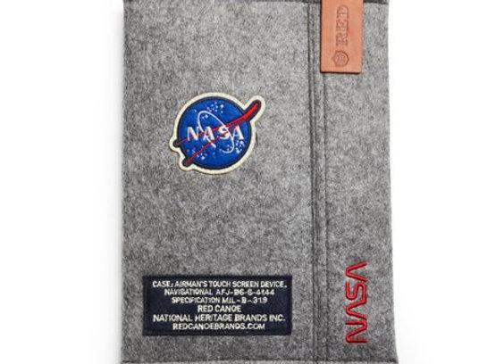 NASA IPAD SLEEVE - Red Canoe NASA felt iPad sleeve